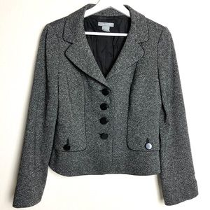 Ann Taylor Tweed Button Down Blazer